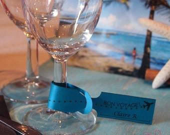 Place card tag-luggage travel Theme - birthday, wedding