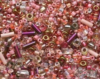 Antique Pink Seed Bead Mix, 50 g (6619)