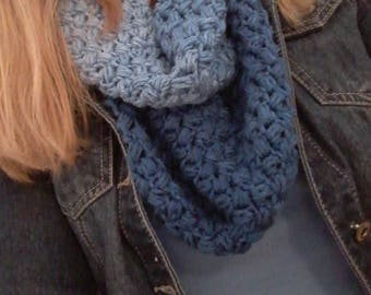 Infinity Scarf - Scarves - Crochet Scarf - Blue Scarf - Blue Cowl