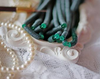 Dark Green colour-Sequins-Pailettes-4 mm sequins-Round sequins-Flat Sequins