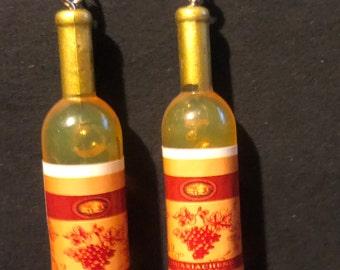 Wine Bottle Miniature Earrings   AQ3