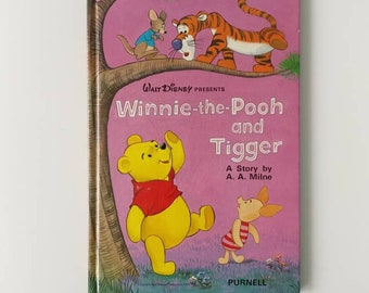 Vintage 1975 Winnie the Pooh Notebook handmade from a Disney book