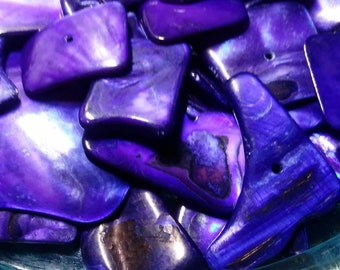Purple Shell Chip Beads