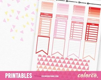 Spring Happy Planner weekly kit -2 Printable Planner Stickers Erin Condren ECLP Happy Planner Instant Digital Download