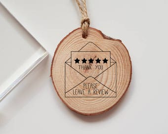 Please Leave a Review Rubber Stamp