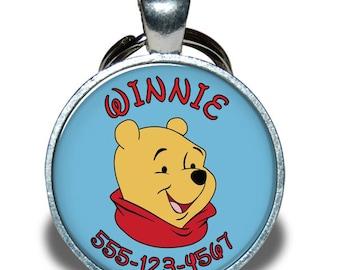 Pet ID Tag - Winnie the Pooh *Inspired* - Dog tag, Cat Tag, Pet Tag