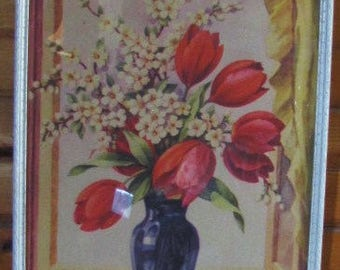 Vintage Flower Print of Tulips Picture: 1941