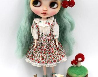 Girlish - Ichigo Flora Dress Set for Blythe doll - dress / outfit