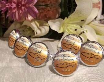 108 Beach Hershey Kiss® Stickers  -Wedding Kiss Labels - Candy Labels - Custom Labels - Wedding Favors - Candy Stickers