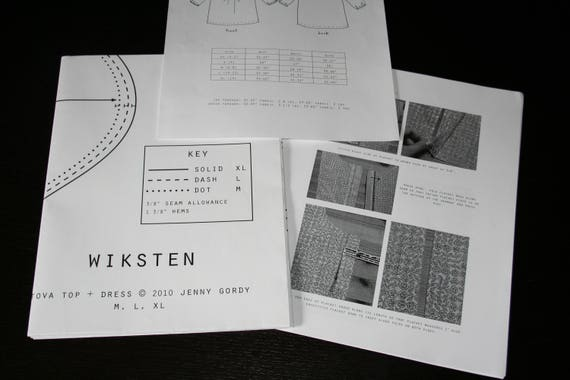 Wiksten Womens Tova Top Dress Sewing Pattern Paper