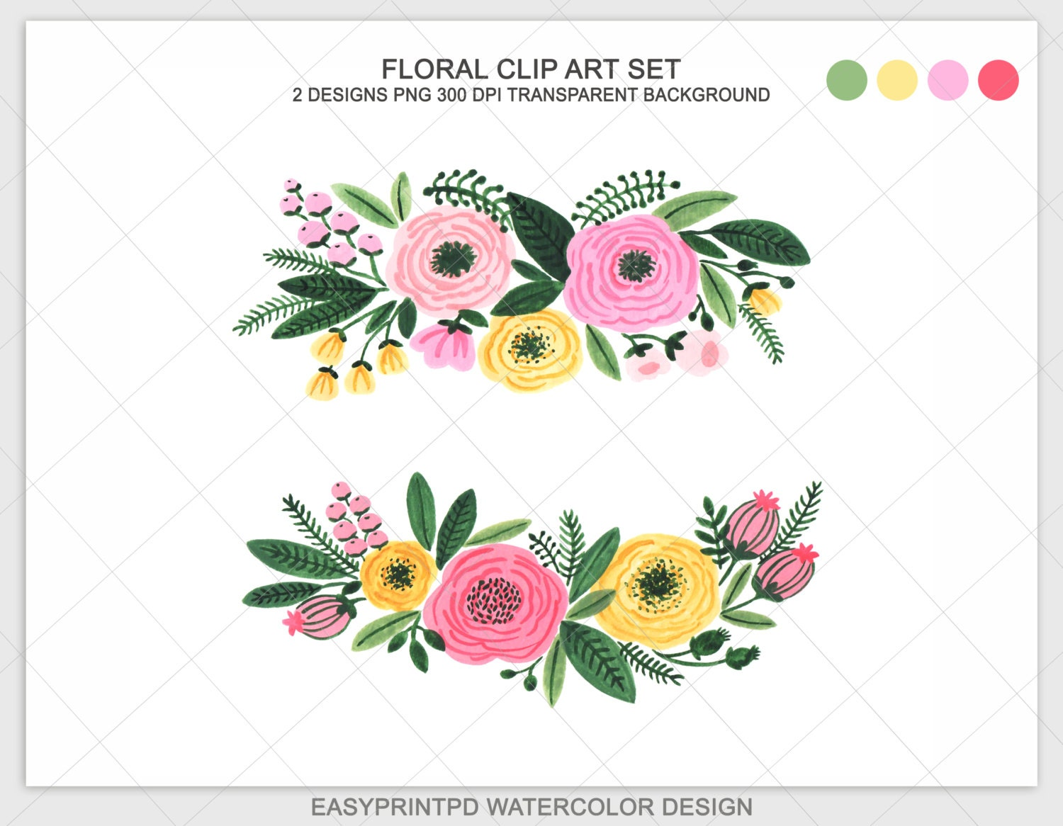 watercolor floral clipart watercolor flowers floral clip rh etsy com floral clip art free floral clipart free