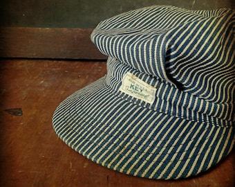 Vintage Key Imperial Hickory Stripe Denim Cap
