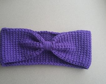 Tunisian crochet earwarmer headband Wide band