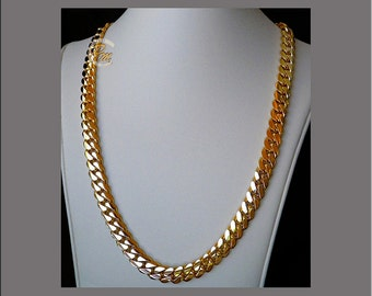 """14K Gold Miami Men's Cuban Curb Link Chain Necklace 24"""" Heavy 196.8 Grams 10mm Free Appraisal"""