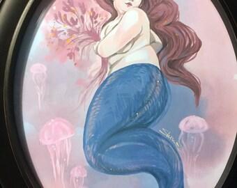 Framed Mermaid Original Art