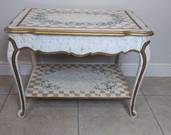French Provincial Sofa table Florentine Style
