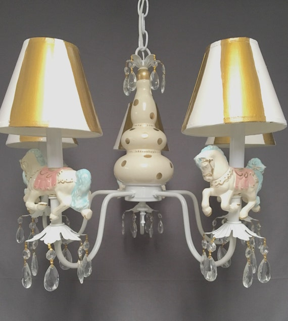 Carousel horse chandelier nursery chandelier childrens aloadofball Image collections