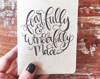 Fearfully and Wonderfully Made Pocket journal