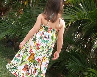 Girls Hawaiian Dress Hula Girl Party