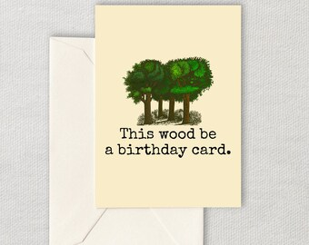 Printable Botanist Birthday Card - Forester Birthday Card - Logger Birthday Card - Dendrologist - Botany Card - Instant Download