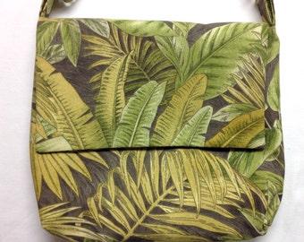 The Copa-ca-bag-a: Messenger Bag (Forest Jungle Print)