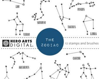 Instant Download Hero Arts The Zodiac Digital File DK120