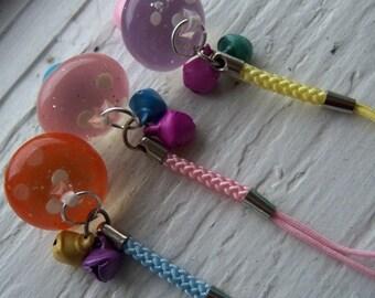 Little Mushrooms Phone Charm or Zipper Pull