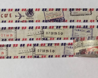 air mail washi tape, mail stamp washi, MT, washi, tape, scrapbooking washi, masking tape