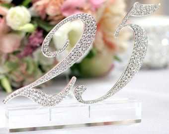 2 x #40  Rhinestone Table Numbers for Wedding, Birthday, or any Special Events