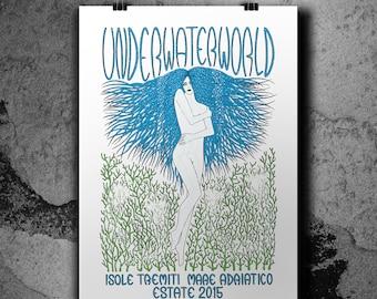 Underwater World - Isole Tremiti Estate 2015 - Handpulled Silkscreen Poster