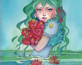 Mermaid in Dress by Ikuko - Mermaid in Dress coloring book, Createspace Independent Publishing Platform