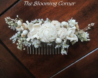 Bridal Hair combs, Hair comb, ivory hair comb, Dried hair comb, Flower Bobby Pin, dried flower comb, Wedding Hair Accessories, hair Pin