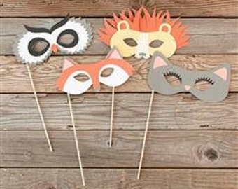 photo props, animal masks, childs play, scrapbooking