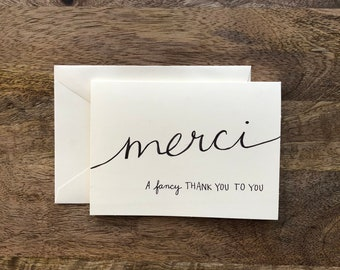 Merci, A Fancy Thank You Card