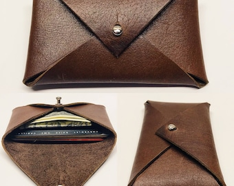 Envelope wallet - leather envelope - leather wallet  - wallet - card holder - front pocket wallet - edc - minimalist - every day carry -