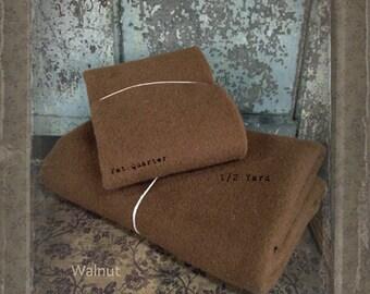Wool: Half Yard 100% Wool - WALNUT- Marcus Fabrics