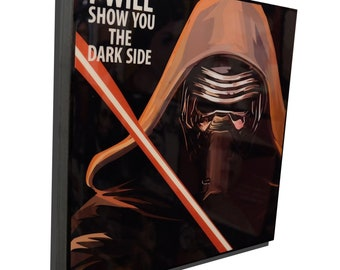 Kylo Ren Star Wars The Force Awakens Poster Plaque Framed Canvas Print Painting