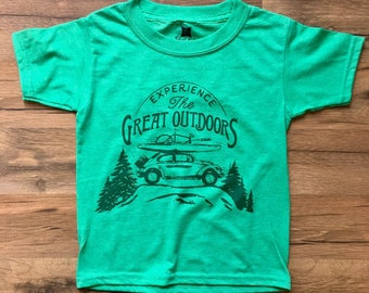 Great Outdoors / Kids Clothes / Boys Shirts / Girls Shirts / VW Shirt / Toddler Clothes / Kids Outdoor Shirt / Camp Tee / The Great Outdoors
