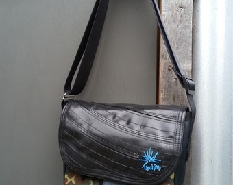 Recycled Bag - Mixed repurposed materials - Everyday Bag - Vegan Purse - Ladies Fashion