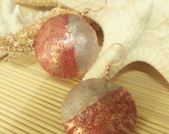 Textured Patina 35mm, 29mm round and 41mm drop Earrings