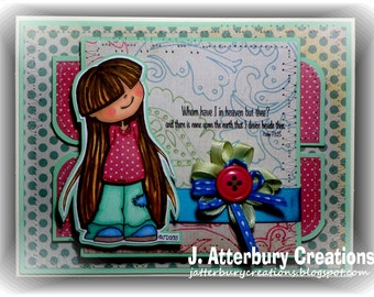 Scripture Card---Whom Have I in Heaven Card + Matching Envelope
