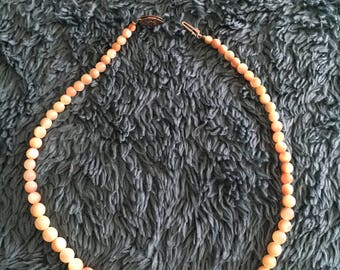 Antique Child's Coral Beaded Necklace