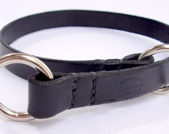 Black Leather Obedience Collar