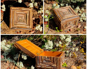 Handmade Decorative Wooden Box- 'The Pyramid Scheme'