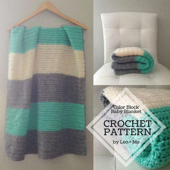 Easy Crochet Baby Blanket Pattern // Beginner Crochet Pattern