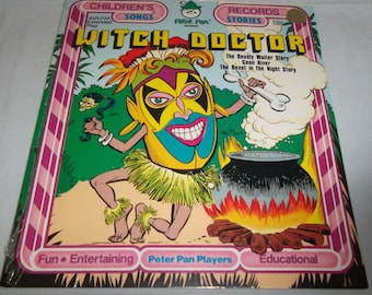 SEALED 1970's Peter Pan Records Witch Doctor Children's Songs 45 RPM Extended Play NEW