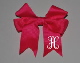 Personalized Bows/Initial Hairbows (3.3 inches)
