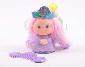 Lady Lovely Locks Sunnypeek Doll Complete, Mattel, Ladylovelylocks, purple doll, pixietails, comb, accessories ~ 161002C
