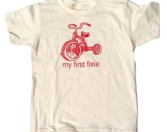 my first fixie baby tricycle t shirt
