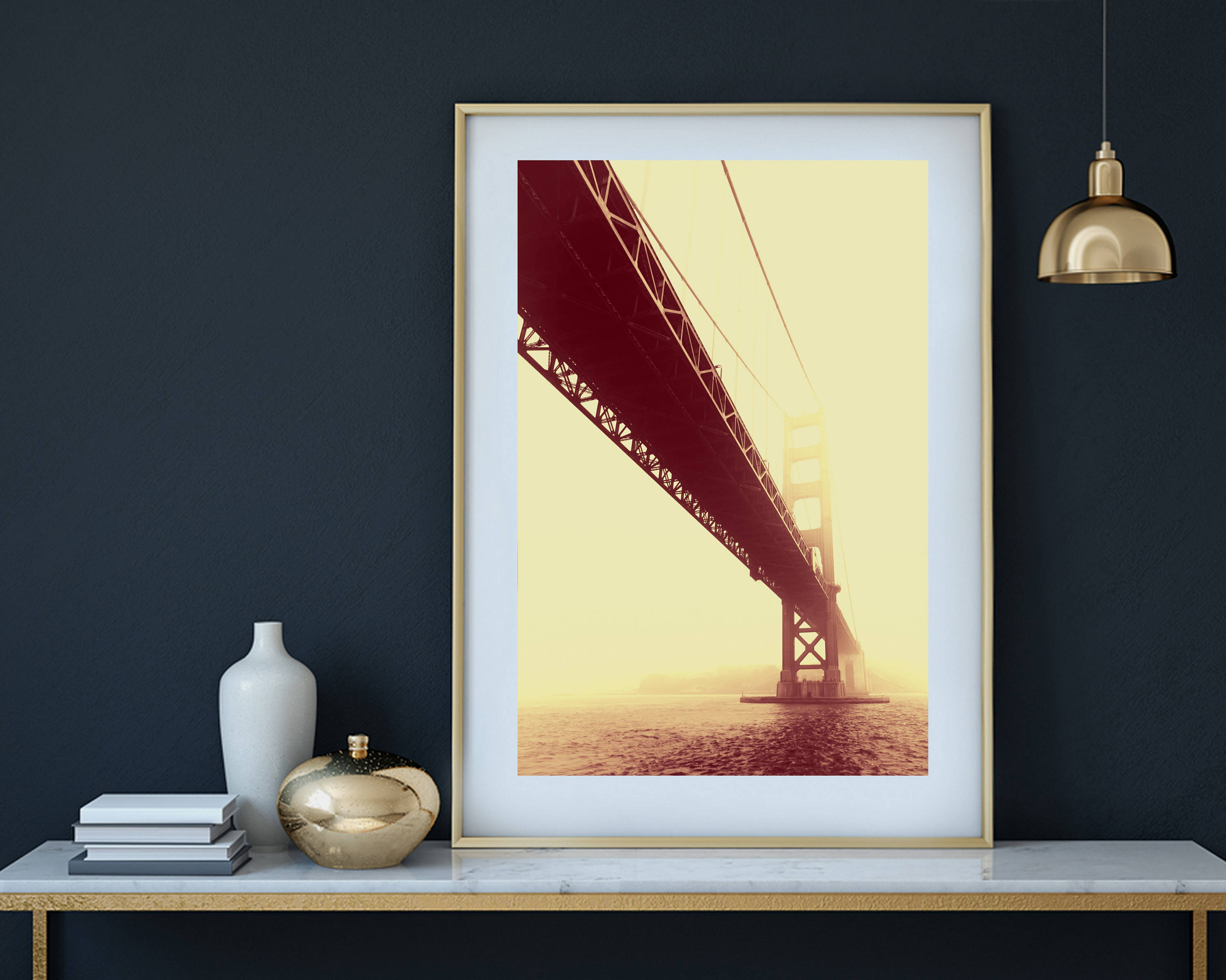 San Francisco Art Black and White Photography Golden Gate